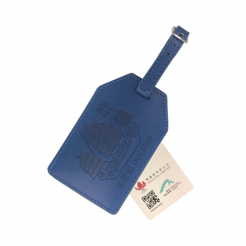 Luggage Tag -  Dukling Leather Luggage Tag MyTAG (Blue)