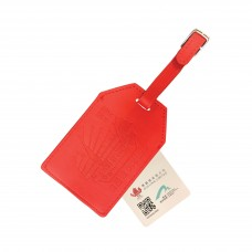 Luggage Tag -  Dukling Leather Luggage Tag MyTAG (Red)